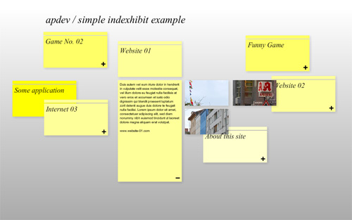 simple indexhibit example